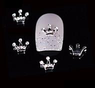 10шт красоты корона 3d горный хрусталь сплав дизайн ногтей DIY Nail Art украшения