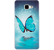 cheap -Case For Samsung Galaxy A5(2016) A3(2016) Glow in the Dark IMD Back Cover Butterfly Soft TPU for A5(2016) A3(2016)