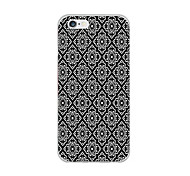 baratos -Capinha Para Apple iPhone 6 iPhone 6 Plus Ultra-Fina Estampada Capa traseira Preto e Branco Macia TPU para iPhone 6s Plus iPhone 6s
