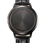 economico -Per uomo Orologio sportivo Orologio elegante Orologio alla moda Creativo unico orologio Quarzo Calendario Quadrante grande Vera pelle