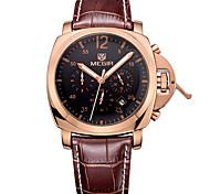 Мужской Спортивные часы Армейские часы Нарядные часы Модные часы Наручные часы Календарь Кварцевый Натуральная кожа ГруппаВинтаж