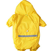 Dog Rain Coat Dog Clothes Fabric Spring/Fall Summer Waterproof Sports Solid Yellow Red Blue Camouflage Color For Pets