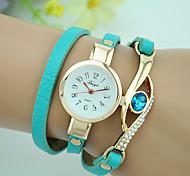 cheap -Women's Bracelet Watch Fashion Watch Quartz Imitation Diamond Leather Band Charm Black White Blue Red Navy Rose