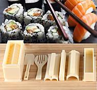 ferramentas de sushi de cozinha DIY 10 pcs sushi fabricante de sushi molde ferramentas de rolo bola de arroz