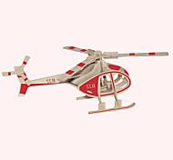 Недорогие -Деревянные пазлы Летательный аппарат Знаменитое здание Китайская архитектура Вертолет Лошадь профессиональный уровень Дерево 1pcs Вертолет