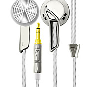 AUGLAMOUR RX-1 In Ear Earburd Flat Head Plug Go Pro Full Metal Earburd Earphone Headset