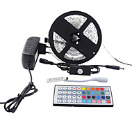 cheap -Light Sets 150 LEDs RGB Remote Control / RC Cuttable Dimmable Waterproof Color-Changing Self-adhesive Suitable for Vehicles Linkable