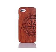 abordables -Funda Para Apple Funda iPhone 5 iPhone 6 iPhone 7 Antigolpes Diseños En Relieve Funda Trasera Palabra / Frase Dura De madera para iPhone