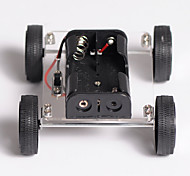 cheap -DIY Toys Technology Small Production Puzzle Assembled Mini Two Drive Car 89 Wind Car Electric Toy Car