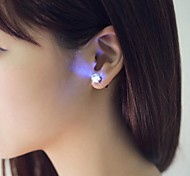 cheap -2PCS Unique Design LED Earrings Light Light Up Bling Ear Studs Accessories for Dance Party Bar
