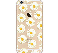 cheap -For iPhone 8 iPhone 8 Plus iPhone 7 iPhone 7 Plus iPhone 6 Case Cover Ultra-thin Pattern Back Cover Case Flower Soft TPU for Apple iPhone