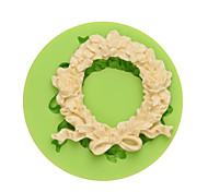 Недорогие -DIY силиконовые формы венок торт модель торты украшения ручной работы fondant mold ramdon цвет