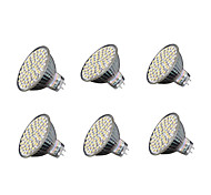 abordables -6pcs 4W 240 lm GU5.3 Focos LED MR16 60 leds SMD 3528 Blanco Cálido Blanco Fresco 3000-3200/6000-6500