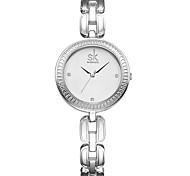 SK Жен. Модные часы Нарядные часы Кварцевый / PU Группа На каждый день Elegant Серебристый металл Золотистый Розовое золото