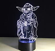 3d bulbing свет 7 изменение цвета Звездные войны игрушки Тысячелетний сокол Дарт Вейдер BB8 дроид робот мастер Yoda светодиодные лампы
