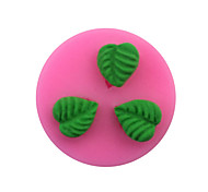 Three Small Round Leaf Pattern  Candy Fondant Cake Molds  For The Kitchen Baking Molds