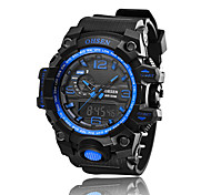 Men's Sport Watch Fashion Watch Wrist watch Quartz LED Chronograph Water Resistant / Water Proof Alarm Stopwatch Silicone Band Vintage