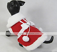 Кошка Собака Плащи Платья Одежда для собак Рождество Новый год Бант Красный Костюм Для домашних животных