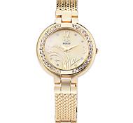 cheap -Women's Quartz Simulated Diamond Watch Bracelet Watch Imitation Diamond Alloy Band Flower Elegant Fashion Silver Gold Rose Gold