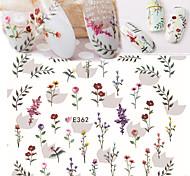 1 pcs Ultra  Thin Fresh Flower Nail Stickers
