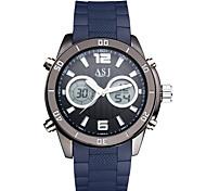 ASJ Men's Sport Watch Fashion Watch Digital Watch JapaneseLCD Compass Calendar Water Resistant / Water Proof Dual Time Zones Luminous