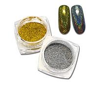 SWEET TREND 1g/Bottle Shinning Mermaid Nail Glitter Powder Nail Art Decorations UV Gel Tips Nail Dust Beauty Nail Tools M09-10