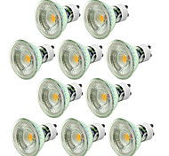 abordables -10pcs 5W 550-650 lm GU10 Focos LED 1 leds COB Regulable Blanco Cálido Blanco Fresco 220 V