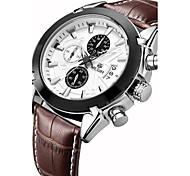 Недорогие -MEGIR Муж. Спортивные часы Модные часы Наручные часы Кварцевый Натуральная кожа Группа Роскошь Винтаж На каждый день Разноцветный