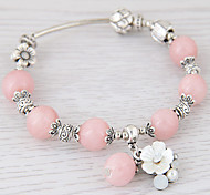 cheap -Women's Crystal Flower Charm Bracelet Strand Bracelet - Personalized Fashion Simple Style Black Blue Pink Bracelet For Party Gift