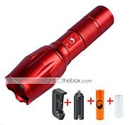 U'King LED Taschenlampen LED 2000 lm 5 Modus Cree XM-L T6 inklusive Batterie und Ladegerät Zoomable- einstellbarer Fokus Kompakte Größe