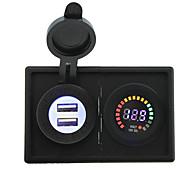 Недорогие -12v светодиодный цифровой дисплей вольтметра и 4.2а USB адаптер с держателем корпус панель для автомобиля лодки грузовик с.в.
