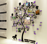 cheap -Botanical Wall Stickers 3D Wall Stickers Decorative Wall Stickers, Vinyl Home Decoration Wall Decal Wall