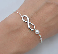 cheap -Women's Chain Bracelet Pearl Bohemian Basic Fashion Simple Style Pearl Alloy Infinity Jewelry Christmas Gifts Wedding Party Birthday