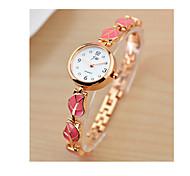 cheap -Women's Bracelet Watch Quartz Stainless Steel Band Black White Red Pink