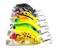 "6 pcs Hard Bait Others Fishing Lures Hard Bait Frog Assorted Colors g/Ounce,55 mm/2-1/4"" inch,Hard PlasticSea Fishing Fly Fishing Bait"