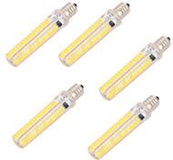 8W E14 E17 E11 Ampoules Maïs LED T 136 diodes électroluminescentes SMD 5730 Intensité Réglable Décorative Blanc Chaud Blanc Froid 750lm
