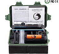 U'King LED Flashlights / Torch Flashlight Kits LED 2000 lm 3 Mode Cree XM-L T6 Adjustable Focus Nonslip grip Zoomable for