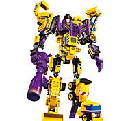 ENLIGHTEN Робот Конструкторы Игрушки Обучающая игрушка Игрушки Воин Машина Робот Автопогрузчик Экскаватор Армия трансформируемый Своими