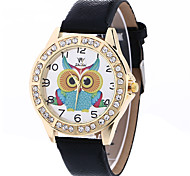 Women's Fashion Analog Stripe Ladies' Owl Display Strap Bohemia Quartz Wrist Watch