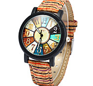 Women's Fashion Watch Wood Watch Quartz Colorful Wood Band Rainbow Multi-Colored