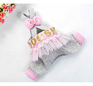 cheap -Dog Pants Dog Clothes Cute Casual/Daily Bowknot Gray Costume For Pets