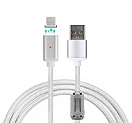 USB 2.0 Micro USB 2.0 Плетение Магнит Кабели Назначение Samsung Huawei Sony Nokia HTC Motorola LG Lenovo Xiaomi 100 cm Нейлон Алюминий