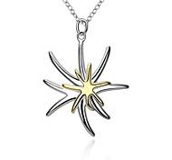 Women's Pendant Necklaces Chain Necklaces Jewelry Copper Silver Plated StarUnique Design Dangling Style Love Heart Geometric Friendship