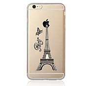 For Pattern Case Back Cover Case Eiffel Tower Soft TPU for Apple iPhone 7 Plus iPhone 7 iPhone 6s Plus/6 Plus iPhone 6s/6 iPhone SE/5s/5