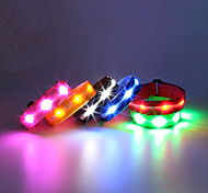 LED Running Armband Reflective Wristbands Compact Size for Camping/Hiking/Caving Cycling/Bike Climbing Outdoor-White Yellow Blue Red