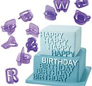 Недорогие -выпечке Mold Буквы Шоколад Cupcake Печенье Торты пластик Своими руками День Благодарения День Святого Валентина Новый год Пасха День