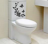 Недорогие -Мультипликация абстракция Наклейки Простые наклейки Декоративные наклейки на стены Наклейки для туалета,Бумага материал Украшение дома