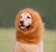 Cat Dog Costume Wig Dog Clothes Cosplay Lion Animal White Black Light Brown Dark Brown Costume For Pets