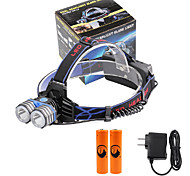 U'King Headlamps Headlight LED 4000 lm 3 Mode Cree XM-L T6 with Batteries and Charger Mobile Power Supply Easy Carrying High Power