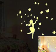Недорогие -Натюрморт Мода Отдых Наклейки Простые наклейки Декоративные наклейки на стены, Бумага Украшение дома Наклейка на стену Стена Пол